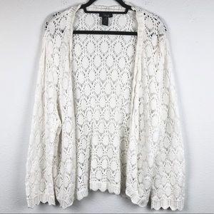 STYLE & CO White Diamond Crochet Women's 3XL Plus